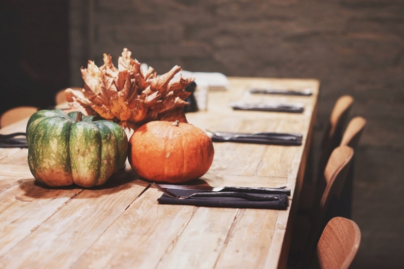 Decorate with gourds throughout your living space.