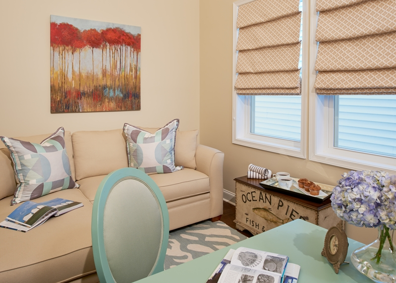You decorator can help you choose lighting fixtures based on the amount of natural light that shines through the room.